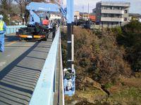 橋梁点検の調査風景